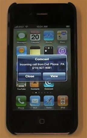 Comcast's iPhone app gains caller ID capability for triple play customers