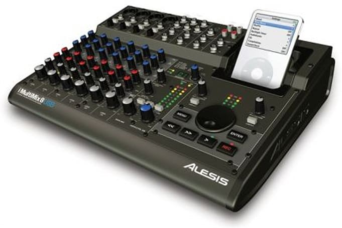 Alesis iMultiMix 8 USB mixer records directly to iPod