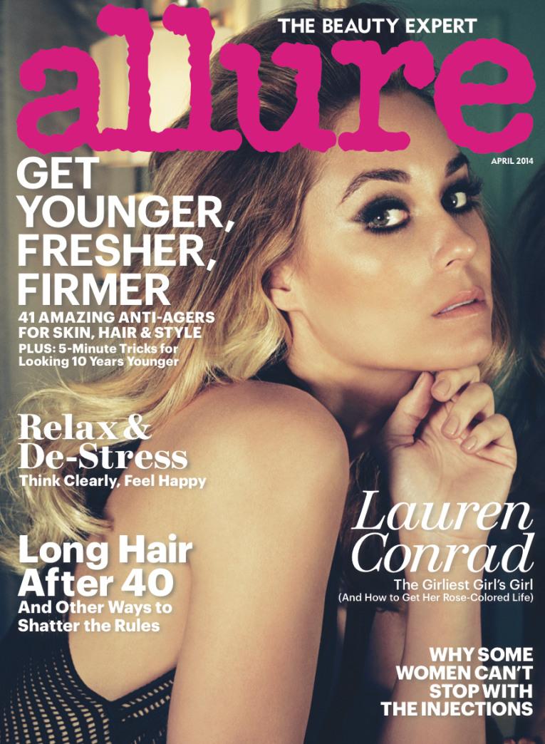 Lauren Conrad smolders on the cover of Allure