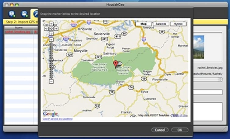HoudahGeo geocoding with Google Earth integration
