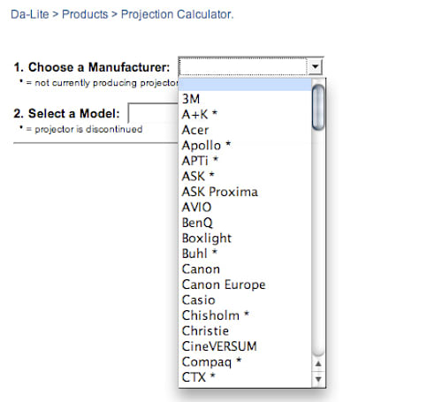 Da-Lite's online Projection Screen Calculator makes the decision for you