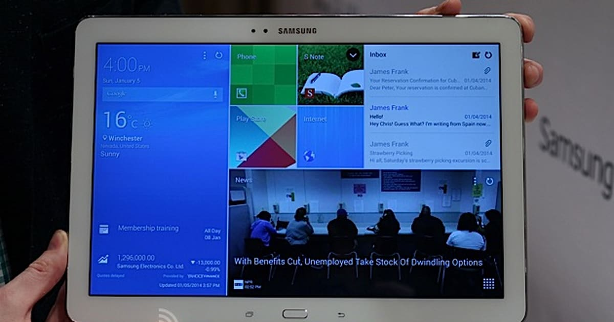 samsung 39 s galaxy note pro 12 2 is a gigantic tablet that. Black Bedroom Furniture Sets. Home Design Ideas