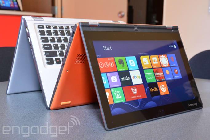 Lenovo's refreshed Yoga 2 laptops bring mid-range specs; 11-inch model no longer runs Windows RT