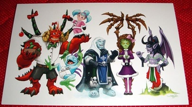 Blizzard's 2008 Holiday card