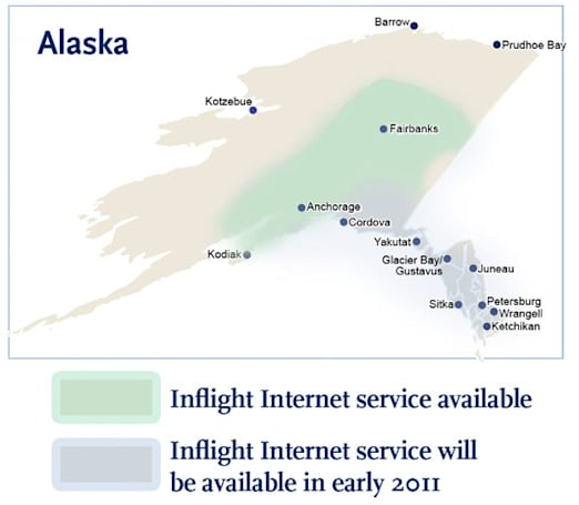 Alaska Airlines fires up in-flight WiFi between Anchorage and Fairbanks, promises more in 2011