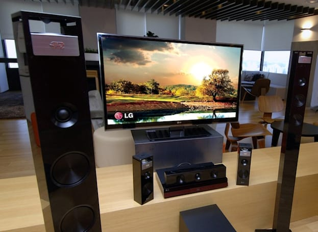 LG home theater system adds vertical speakers for 9.1 surround sound