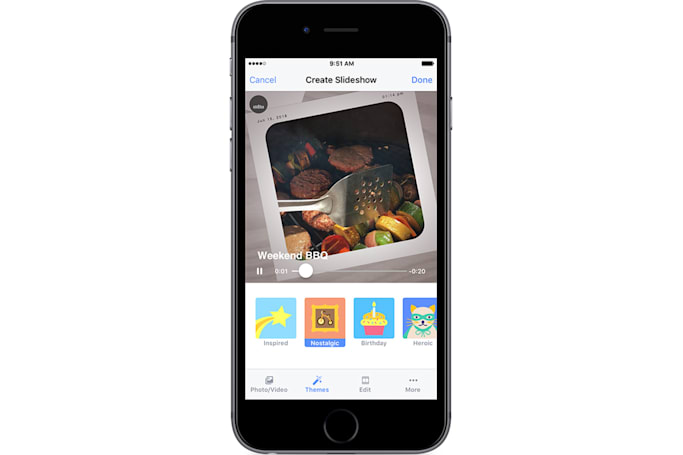 Facebook Slideshow livens up your photos and videos