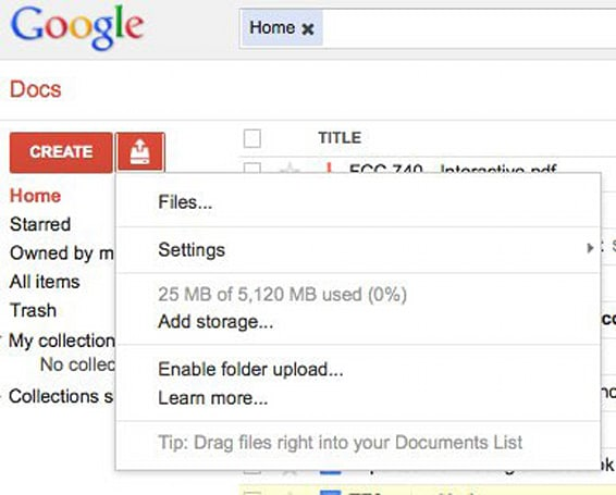 Google Docs bumps up free storage to 5GB, primes servers for Drive?