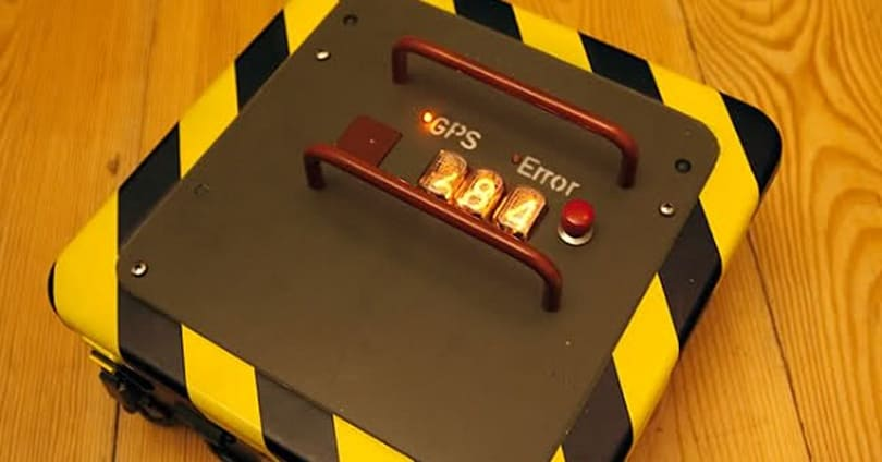 Nixie tube reverse geocache box makes us long for the 80s, our very own spy card