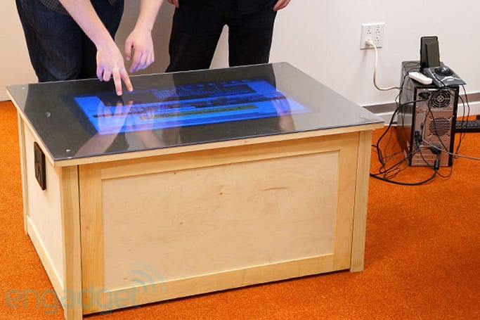 Playsurface touchscreen computing table hands-on (video)