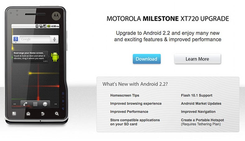 Cincinnati Bell brings Froyo to Milestone XT720, holds your hand through rooting process