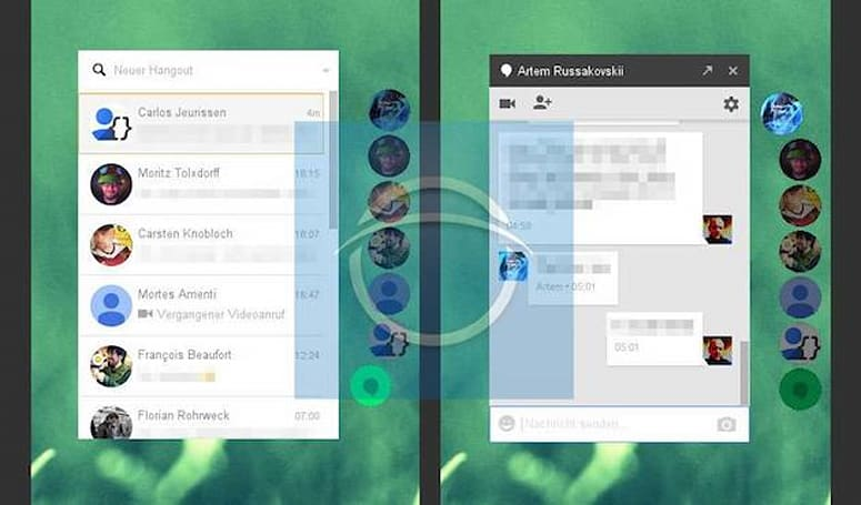 Google's experimental Hangouts app borrows inspiration from Facebook