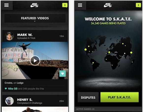 Nike SB app is for skateboarding on a global scale