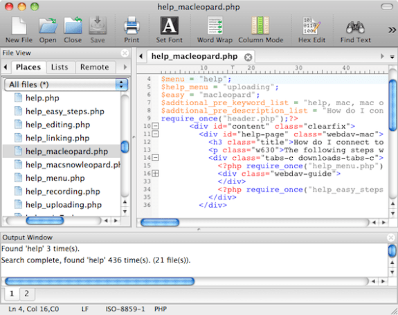 UltraEdit makes the leap to Mac OS X