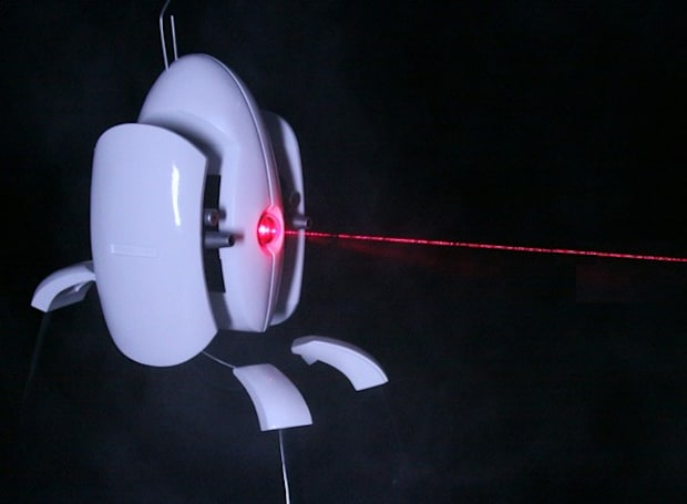 Portal turret replica has real laser, insatiable bloodlust