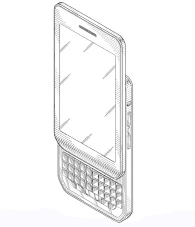 BlackBerry awarded design patent for portrait QWERTY slider, could be a BB10 Torch
