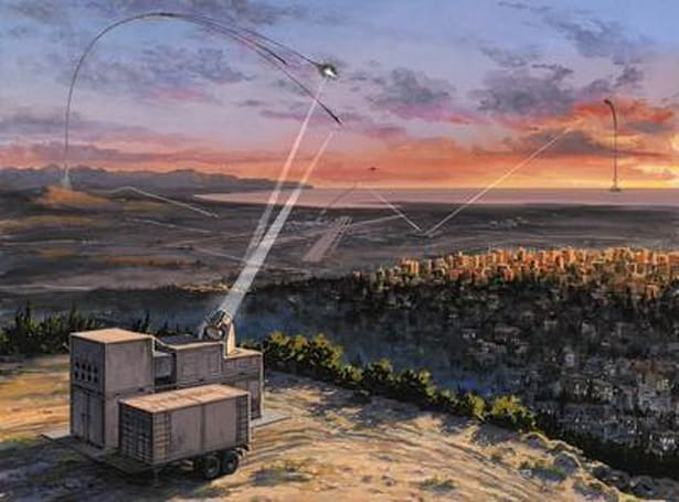 Skyguard defense laser protects humans, kills missiles