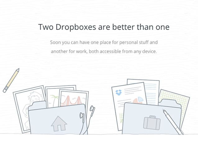 Dropbox will link business and personal accounts early next month