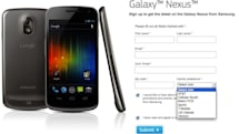 Galaxy Nexus signup page includes seven US carriers, endless speculation
