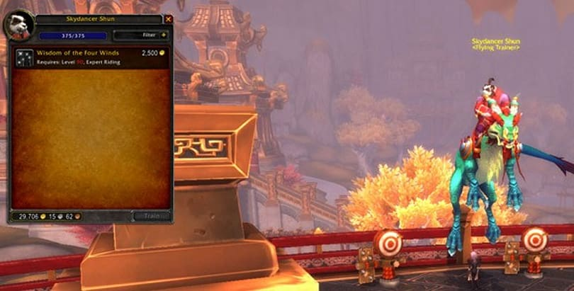 Mists of Pandaria Beta: Level 90 flying and where to get it