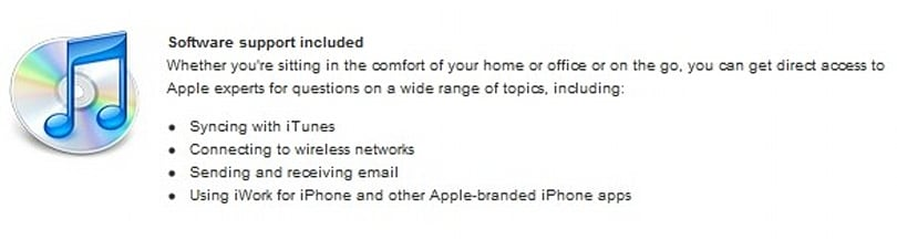 iWork for iPhone revealed by AppleCare product description?