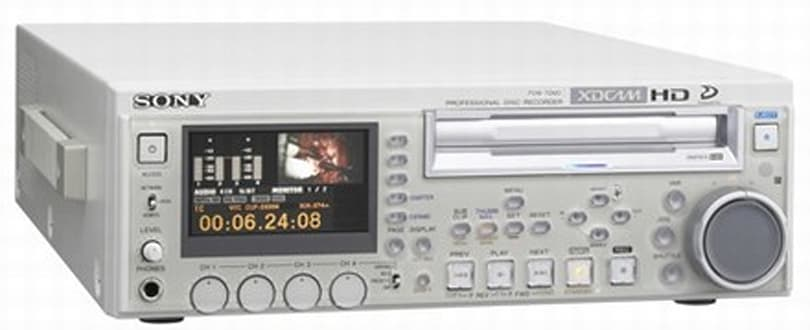 Sony's PDW-70MD XDCAM HD recorder gets official