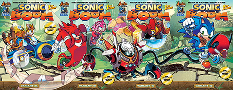 Sonic Boom speeds to the printed page in upcoming comic book