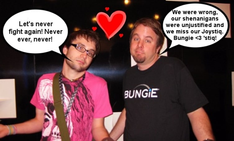 Joystiq and Bungie call truce, peace declared (for now)
