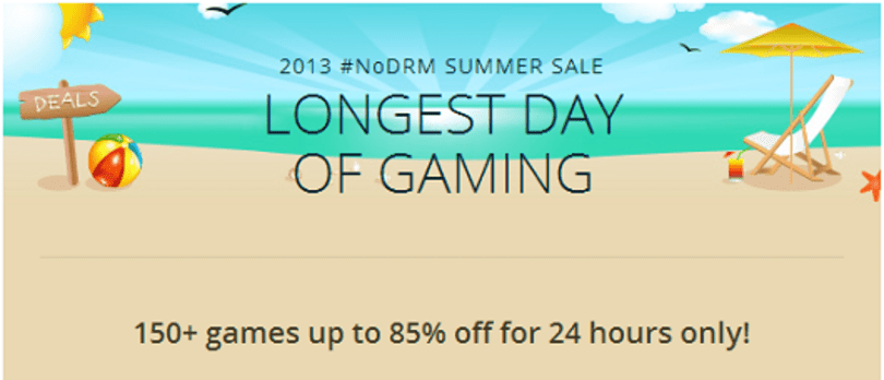 GOG's 24-hour 'Longest Day of Gaming' sale discounts over 150 games