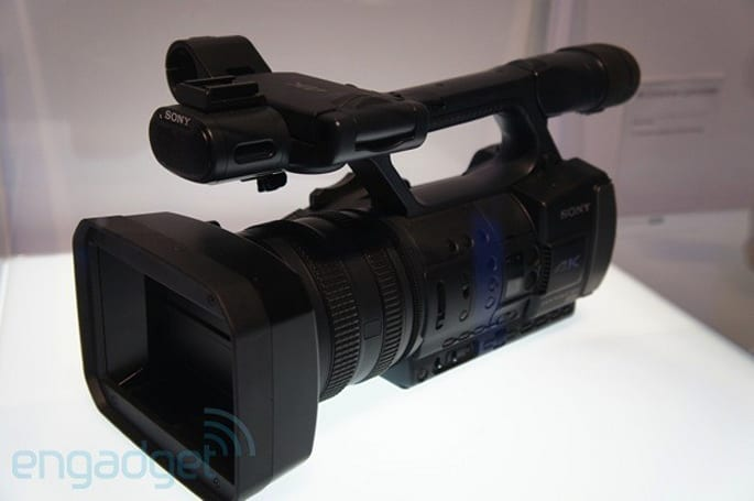 Sony's 4K Handycam and HXR-IFR5 4K Interface Unit prototypes eyes-on