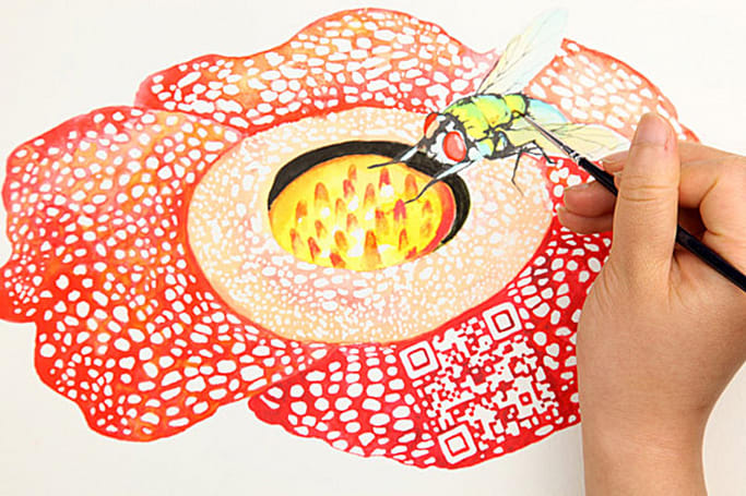 QR codes get gussied up in 'Beautiful Traps,' become art (video)