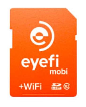 The Mobi EyeFi card turns almost any digital camera into a digital hub