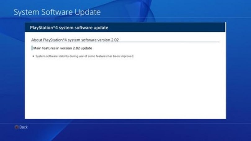 PlayStation 4 firms up with 2.02 system update, available now
