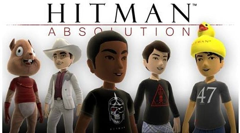 Hitman: Absolution XBLM avatar items are squeaky-clean