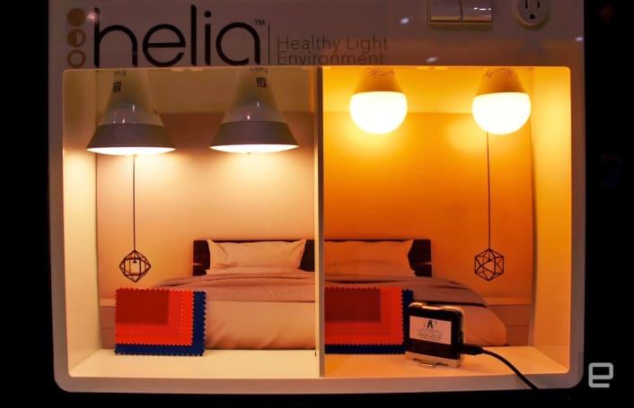 Helia bulbs cut blue light to help you sleep at night