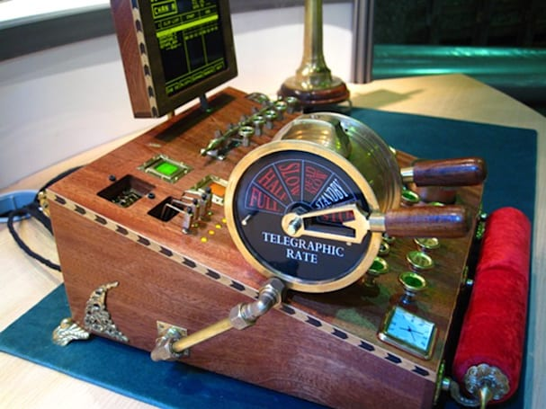 Video: Comptometer does broadcast controls the steampunk way