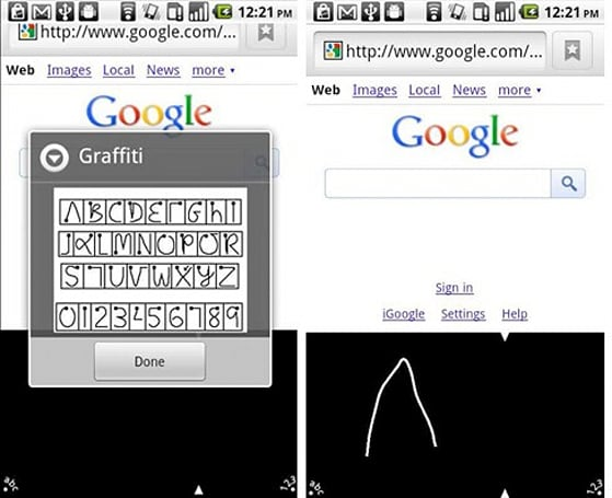 Graffiti for Android scribbles Palm OS memories all over Google's platform