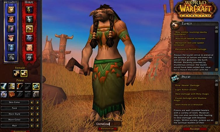 Spiritual Guidance: New priest races and racial traits in 4.0.3 and Cataclysm