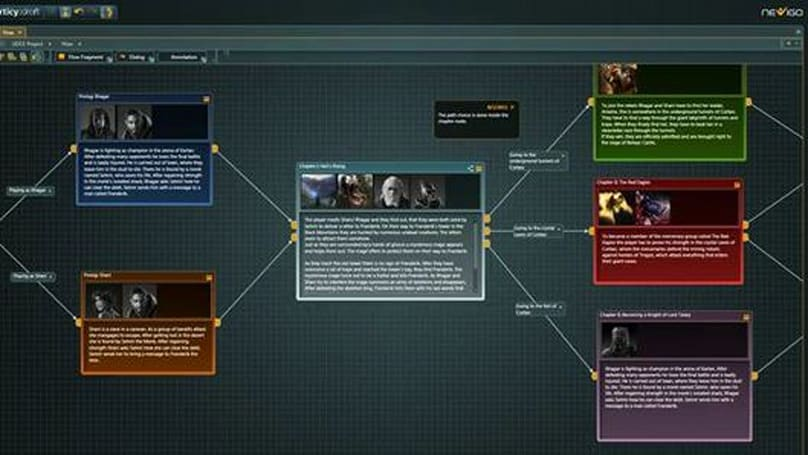 Unleash your imagination in an organized way with Nevigo's game-narrative tool