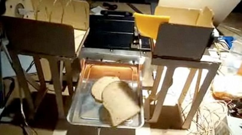 Sudo robot begrudgingly makes sandwiches on command