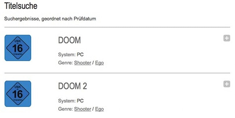 Doom now approved for sale in Germany, 17 years later