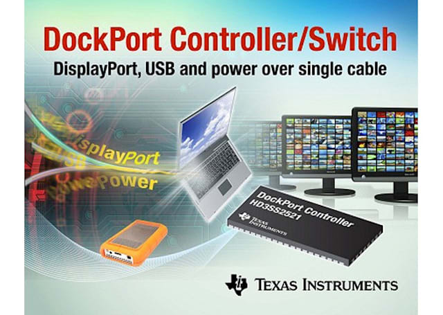 TI intros single-chip DockPort technology destined for laptops and tablets