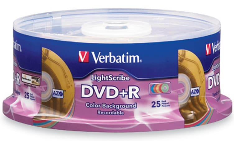 Verbatim offers up color-background LightScribe DVD�Rs
