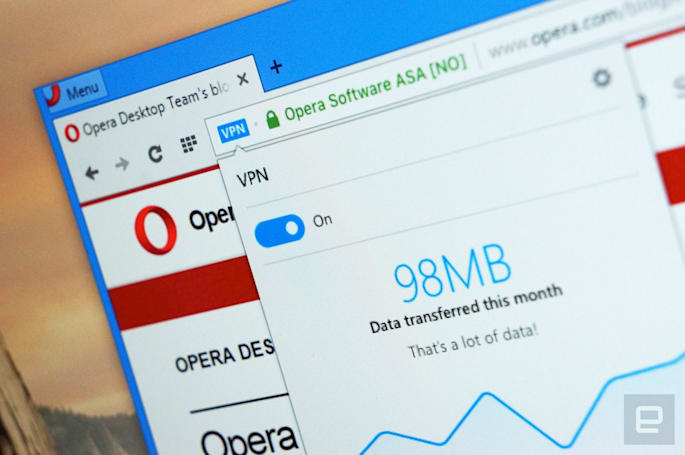 Opera's VPN-equipped browser is now available to everyone
