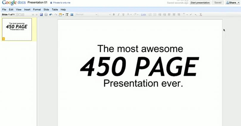 Google Docs presentation makes PowerPoint weep, beg for mercy (video)