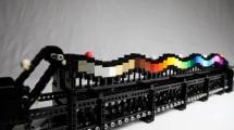 Die Lego-Regenbogen-Welle befördert Kugeln am schönsten