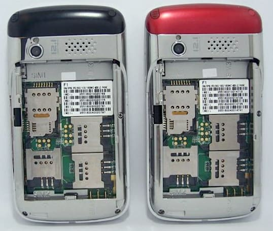 OTECH F1 handset holds four SIM cards, enables you to live a quadruple life