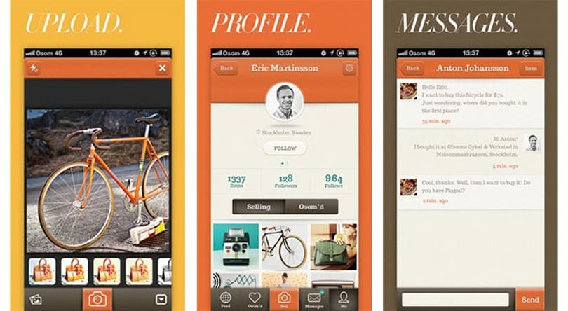 Osom mashes up Craigslist and Instagram, lets you sell your beautiful things