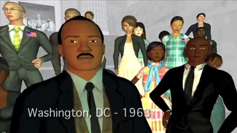 Students recreate the civil rights movement in Second Life