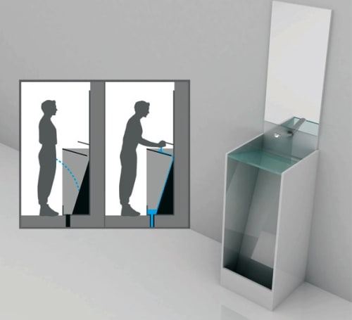 Eco urinal concept saves time and the environment